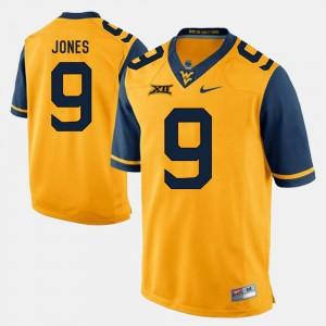 #9 Alumni Football Game Mens Gold Adam Jones WVU Jersey 662938-547