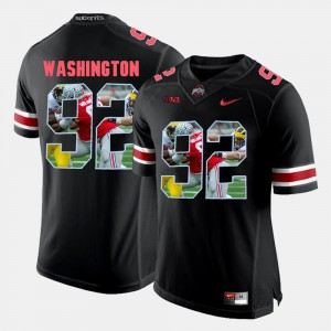 Adolphus Washington OSU Jersey #92 Pictorial Fashion Black For Men's 928177-245