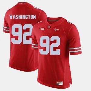 Alumni Football Game Adolphus Washington OSU Jersey Scarlet #92 For Men's 525996-915
