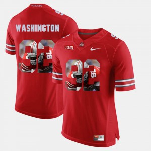 #92 Scarlet Adolphus Washington OSU Jersey Men's Pictorial Fashion 981855-380