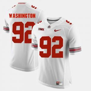 Men's White #92 Adolphus Washington OSU Jersey Alumni Football Game 574350-635