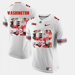Pictorial Fashion Adolphus Washington OSU Jersey For Men White #92 530927-567