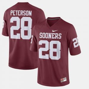 #28 Alumni Football Game Crimson For Men Adrian Peterson OU Jersey 177639-802