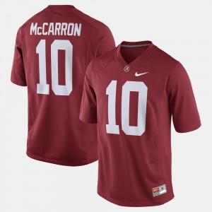 Alumni Football Game #10 A.J. McCarron Alabama Jersey For Men's Crimson 181449-128