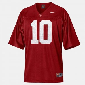 A.J. McCarron Alabama Jersey #10 College Football Red For Kids 885159-879