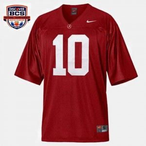 Red A.J. McCarron Alabama Jersey For Men's College Football #10 566509-758