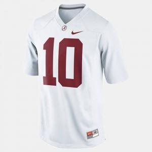 White A.J. McCarron Alabama Jersey Youth #10 College Football 639220-777