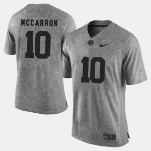 A.J. McCarron Alabama Jersey Gridiron Limited #10 Gray Gridiron Gray Limited Men's 206198-530