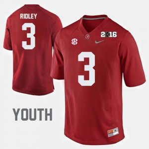 Kids College Football Calvin Ridley Alabama Jersey Crimson #3 356467-744