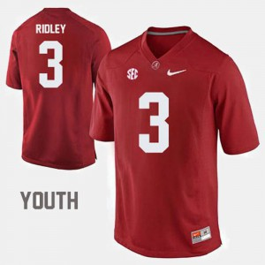 College Football Calvin Ridley Alabama Jersey Red #3 Youth(Kids) 494853-556