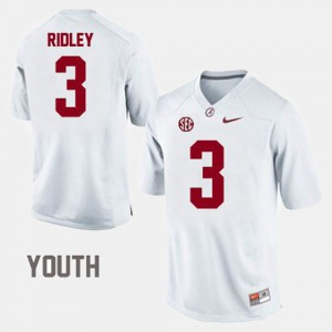White Calvin Ridley Alabama Jersey #3 College Football Youth 117944-533