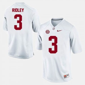 #3 College Football Calvin Ridley Alabama Jersey Men White 804366-320