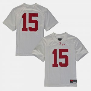 #16 Alabama Jersey College Football For Kids White 104729-960