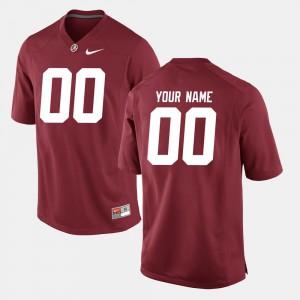 Mens Crimson Alabama Custom Jersey #00 College Football 708689-318