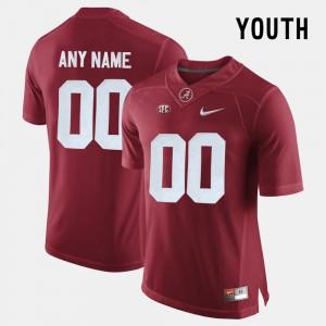 #00 Alabama Custom Jersey Youth(Kids) College Limited Football Crimson 224699-737