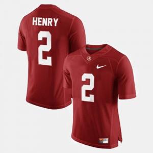 College Football For Men's #2 Red Derrick Henry Alabama Jersey 386617-945