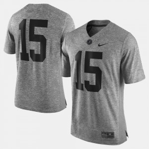 Gray Gridiron Limited Alabama Jersey Gridiron Gray Limited For Men #15 562129-723