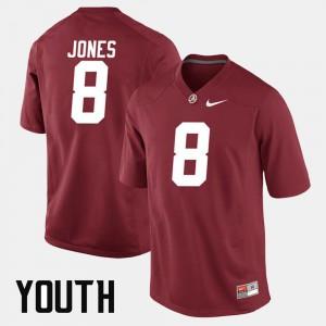 #8 Kids Alumni Football Game Crimson Julio Jones Alabama Jersey 104523-828