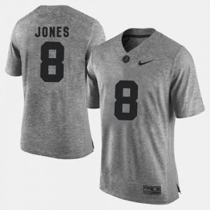 Gridiron Limited Gray Julio Jones Alabama Jersey Men #8 Gridiron Gray Limited 558125-466