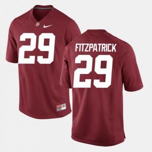 #29 Crimson For Men's Alumni Football Game Minkah Fitzpatrick Alabama Jersey 551429-497