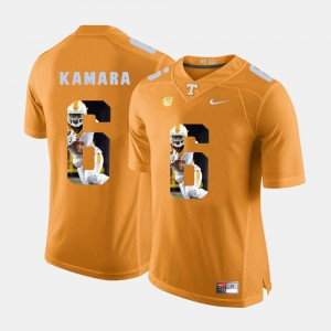#6 Alvin Kamara UT Jersey Orange Pictorial Fashion Mens 655020-200