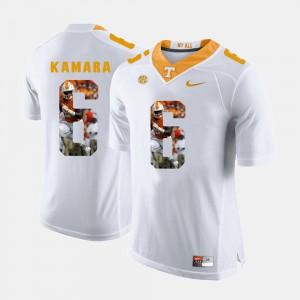 Pictorial Fashion White Mens #6 Alvin Kamara UT Jersey 713247-861
