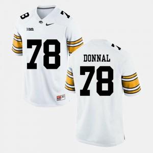 Alumni Football Game #78 Men's White Andrew Donnal Iowa Jersey 720213-298