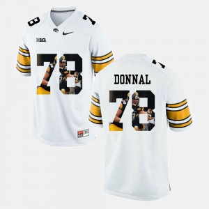 Men White #78 Pictorial Fashion Andrew Donnal Iowa Jersey 103537-814