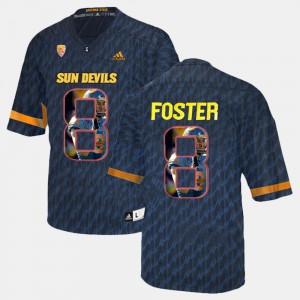 #8 Black Player Pictorial D.J. Foster ASU Jersey Men 857816-422