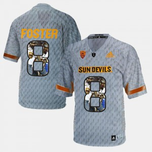 D.J. Foster ASU Jersey Gray Player Pictorial For Men #8 888662-176