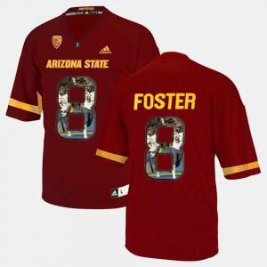 Red Men Player Pictorial #8 D.J. Foster ASU Jersey 869486-645
