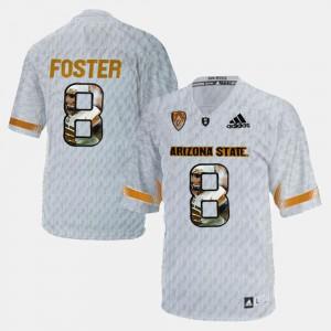 Men White Player Pictorial #8 D.J. Foster ASU Jersey 679368-227