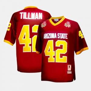 #42 Men's Pat Tillman ASU Jersey Red College Football 462305-183