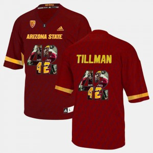 Player Pictorial Men's #42 Pat Tillman ASU Jersey Maroon 105367-557