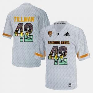 Pat Tillman ASU Jersey Men #42 Player Pictorial White 102055-464