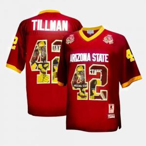 For Men Throwback #42 Pat Tillman ASU Jersey Maroon 281798-135