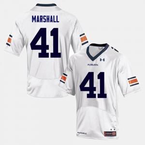 #41 Aidan Marshall Auburn Jersey For Men White College Football 846599-990