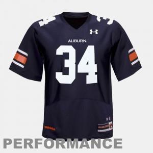 Blue Men's College Football Bo Jackson Auburn Jersey #34 653782-382