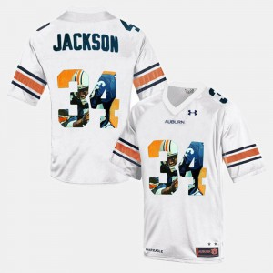 Throwback #34 Bo Jackson Auburn Jersey White Men's 543714-824
