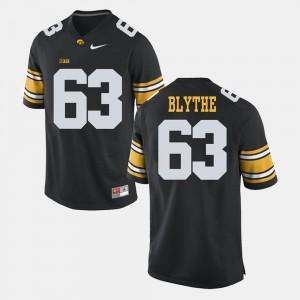 Alumni Football Game Men's Austin Blythe Iowa Jersey #63 Black 643189-978