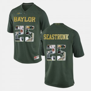 Lache Seastrunk Baylor Jersey Player Pictorial Men's Green #25 504470-154