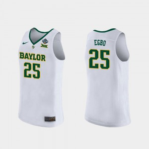 Queen Egbo Baylor Jersey #25 Womens 2019 NCAA Women's Basketball Champions White 278907-133
