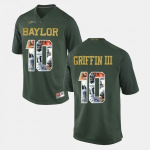 #10 Green Player Pictorial For Men Robert Griffin III Baylor Jersey 387885-398