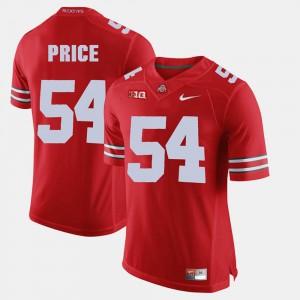 Scarlet #54 Men Alumni Football Game Billy Price OSU Jersey 325551-359