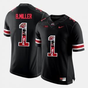 Black Braxton Miller OSU Jersey #1 Mens Pictorial Fashion 398129-392