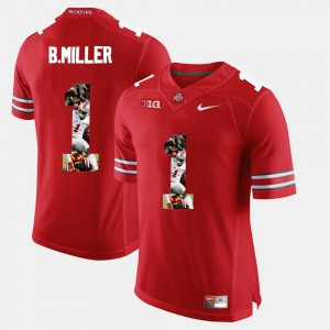 Braxton Miller OSU Jersey Pictorial Fashion Scarlet For Men #1 540211-889