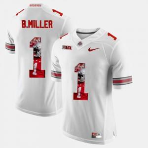 Pictorial Fashion #1 Braxton Miller OSU Jersey White For Men 102666-300