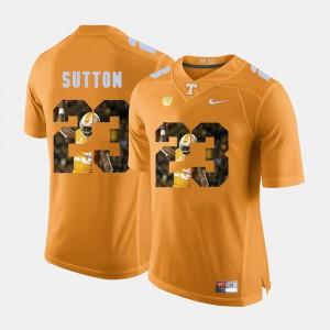 Orange Pictorial Fashion Mens Cameron Sutton UT Jersey #23 959993-333