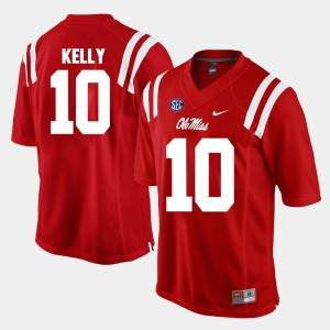 Alumni Football Game #10 Red Chad Kelly Ole Miss Jersey For Men's 519594-360