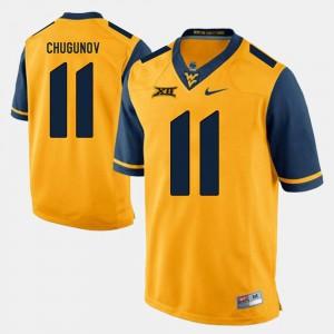#11 Gold For Men Chris Chugunov WVU Jersey Alumni Football Game 376284-548